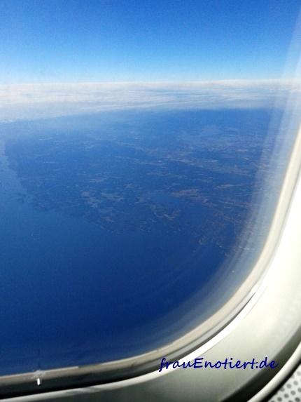 Stockholm, Schweden, Anflug, Arlanda, Luftbild, Schären