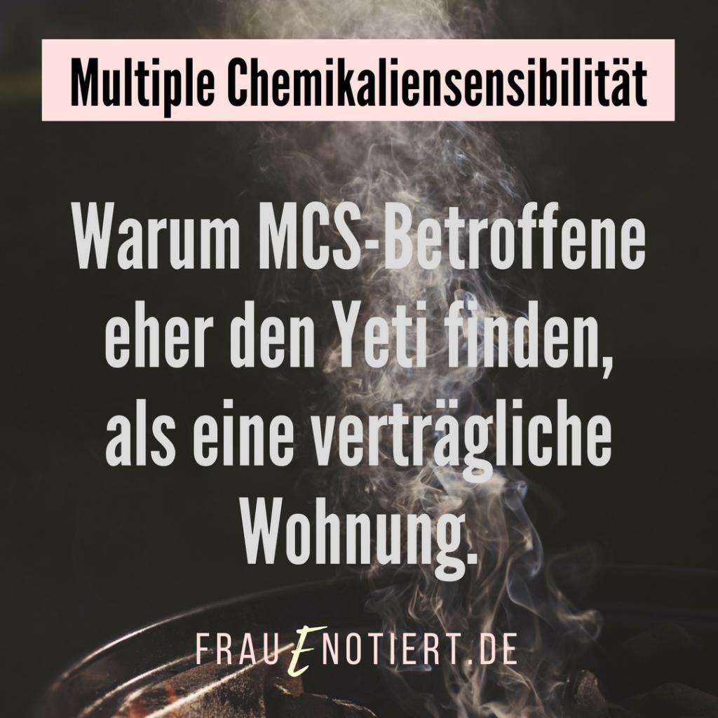 Wohnen mit Multipler Chemikaliensensibilität (MCS): mein täglicher ...