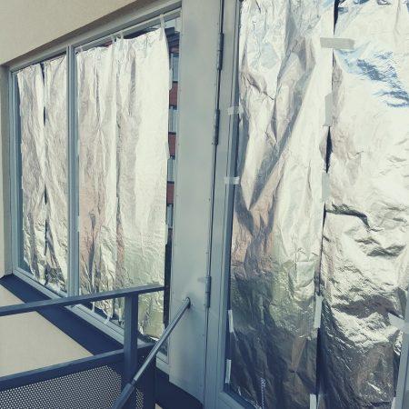 Fensterfolie, Hitze, Wohnung kühlen, reflektierende Folie, Wärme abschirmen