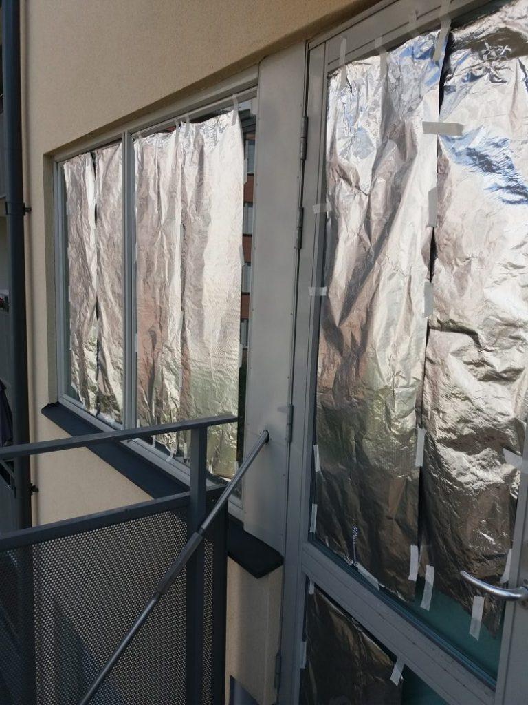 Fensterfolie, Folie Fenster, Hitze, Wärme abschirmen, Wohnung kühlen, Sommerhitze