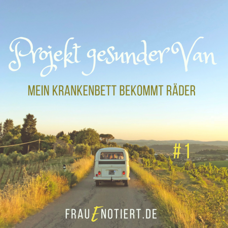 Vanlife, chronisch krank, Baubiologie, MCS, Multiple Chemikaliensensitivität, Sick Buliding Syndrome, Frau E. notiert, Blog